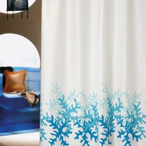 SHOWER CURTAIN No 1459 CORAL  1,80X1,80