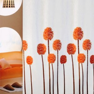 SHOWER CURTAIN No 1775 LAVENDER ORANGE 1,80X1,80