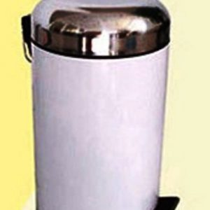 NO RUSTY STEP BIN 5L WHITE