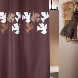 SHOWER CURTAIN No 1782 DOVE BROWN 1,80X1,80