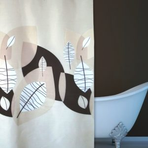 SHOWER CURTAIN No 1774 TIERRA BROWN 1,80X1,80