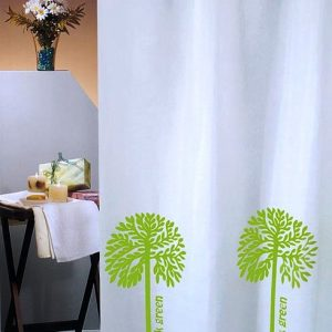 SHOWER CURTAIN No 1768 THINK GREEN 1,80X1,80