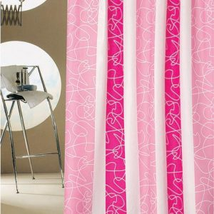 SHOWER CURTAIN  No1767 HOOKLESS HONEY CIRCLE 1,80X2,00