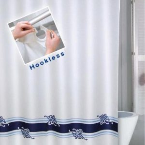 SHOWER CURTAIN  No 1026 HOOKLESS 1,80X1,80