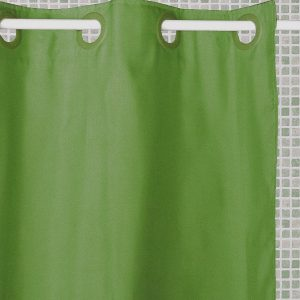 ATENAS SHOWER CURTAIN HOOKLES GREEN 180X196