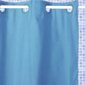 ATENAS SHOWER CURTAIN HOOKLES LIGHT BLUE 180X196