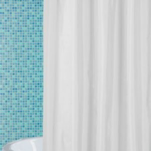 ATENAS SHOWER CURTAIN HOOKLES WHITE 180X196