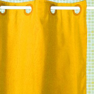 ATENAS SHOWER CURTAIN HOOKLES YELLOW 180X196