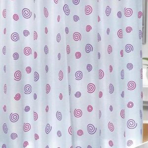 SHOWER CURTAIN  No 1041 PINK-PURPLE HOOKLESS 1,80X1,80