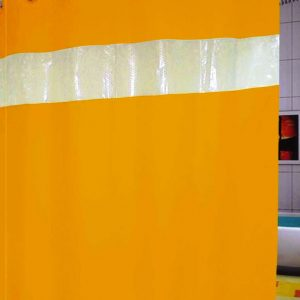 SHOWER CURTAIN  No 1050 YELLOW HOOKLESS 1,80X1,80