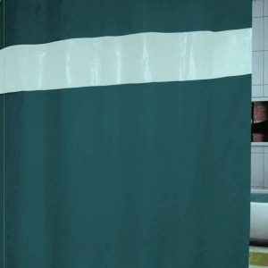 SHOWER CURTAIN  No 1050 PETROL HOOKLESS 1,80X1,80