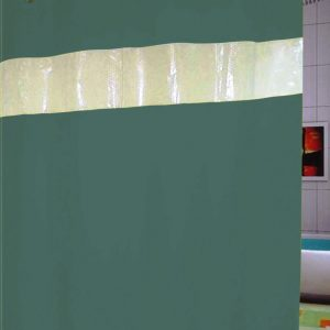 SHOWER CURTAIN  No 1050 TURQUOISE HOOKLESS 2,40X1,80