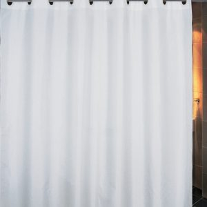 SHOWER CURTAIN  No 1040 WHITE HOOKLESS 1,80X1,80