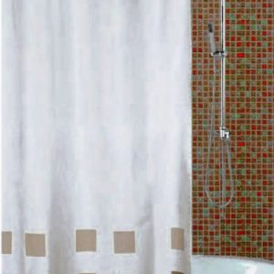 SHOWER CURTAIN  No 176 HOOKLESS BROWN 1,80X1,80