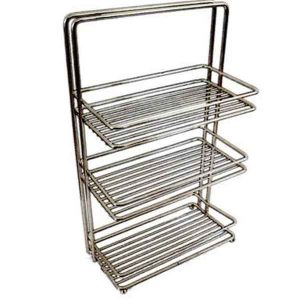 BATHROOM  3 SELFS CHROME RACK