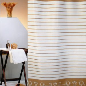 SHOWER CURTAIN No 2020 BATHTUBS BROWN 2,40 Χ 1,80