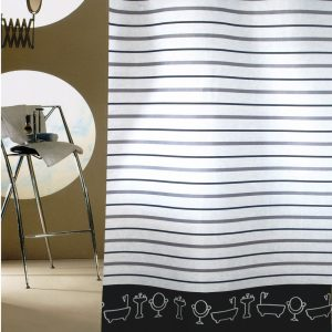 SHOWER CURTAIN No 2020 BATHTUBS GREY 2,40 Χ 1,80