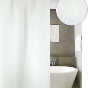 SHOWER CURTAIN No 1777 BERLIN WHITE 1,80X1,80