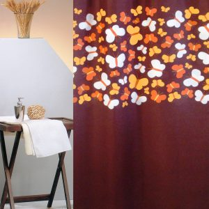 SHOWER CURTAIN Νο 1788 BUTTERFLIES BROWN 2,40 Χ 1,80