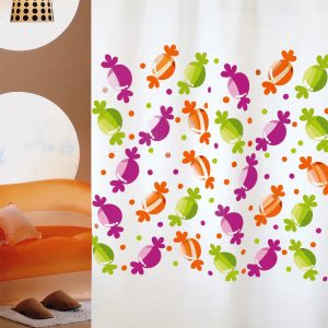 SHOWER CURTAIN No 1981 CANDIES 2,40 Χ 2,00