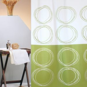 SHOWER CURTAIN No 3026 DUETT GREEN 1,80X1,80