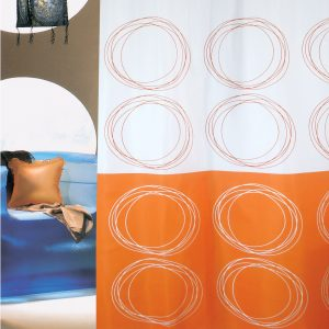 SHOWER CURTAIN No 3026 DUETT ORANGE 1,80X1,80