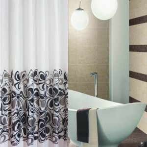 SHOWER CURTAIN Νο 1900 ELITE BLACK 2,40 Χ 1,80