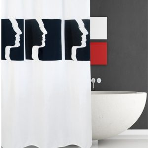 SHOWER CURTAIN No 1956 FACES 2,40 Χ 2,00