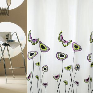 SHOWER CURTAIN  Νο 1952 HAPPY  HOOKLESS 2,40 X 1,80