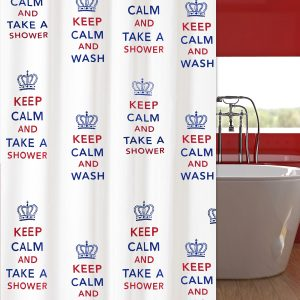 SHOWER CURTAIN  Νο 2063 KEEP CALM 2,40 Χ 1,80