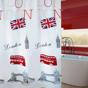 SHOWER CURTAIN No 2024 LONDON 1,80X1,80