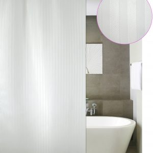 SHOWER CURTAIN SOLID  LUXOR WHITE 1,80 WIDTH X 2,40 HEIGHT