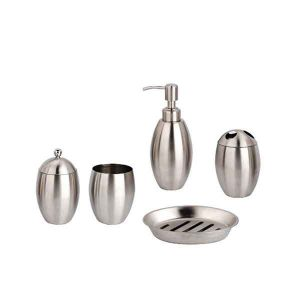 5 PIECES BATHROOM SET INOX 18/8