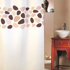 SHOWER CURTAIN No 1948 PEBBLES BROWN 2,40 Χ 2,00