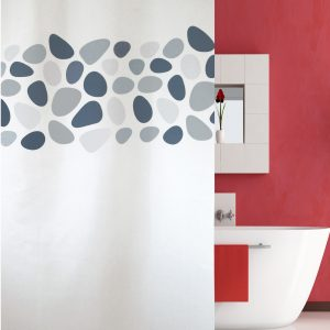 SHOWER CURTAIN No 1948 PEBBLES GREY 2,40 Χ 2,00