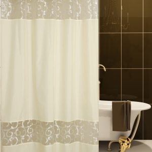 SHOWER CURTAIN No 1887 SC007 BEIGE  2,40X1,80