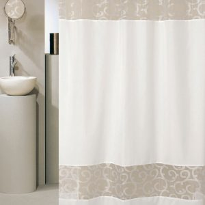 SHOWER CURTAIN No 1887 SC007 WHITE 2,40X1,80