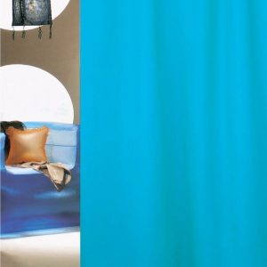 SHOWER CURTAIN HOTEL SOLID No 0301 AQUA 1,80X2,00