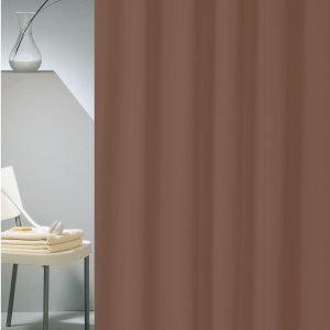SHOWER CURTAIN HOTEL SOLID No 0301 BROWN  1,80X2,00