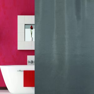 SHOWER CURTAIN HOTEL SOLID No 0301 GREY  1,80X2,00