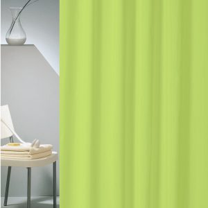 SHOWER CURTAIN HOTEL SOLID No 0301 LIME 1,80X2,00