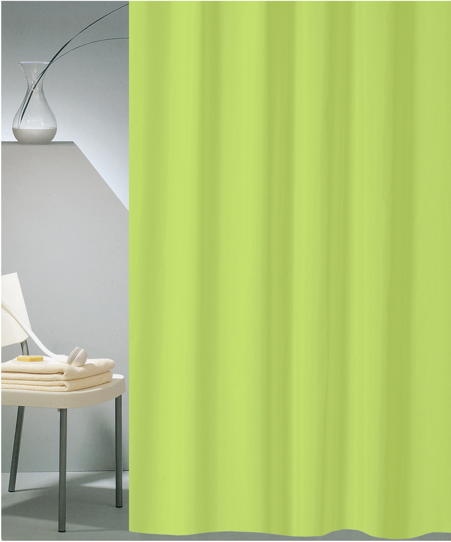 SHOWER CURTAIN HOTEL SOLID No 0301 LIME 180X200