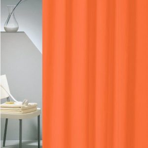 SHOWER CURTAIN HOTEL SOLID No 0301 ORANGE 1,80X2,00