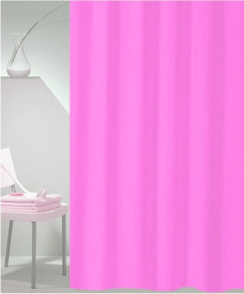 SHOWER CURTAIN SOLID No 100 PINK 240X180