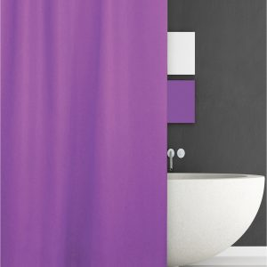 SHOWER CURTAIN HOTEL Νο 301 SOLID PURPLE 2,40 Χ 1,80
