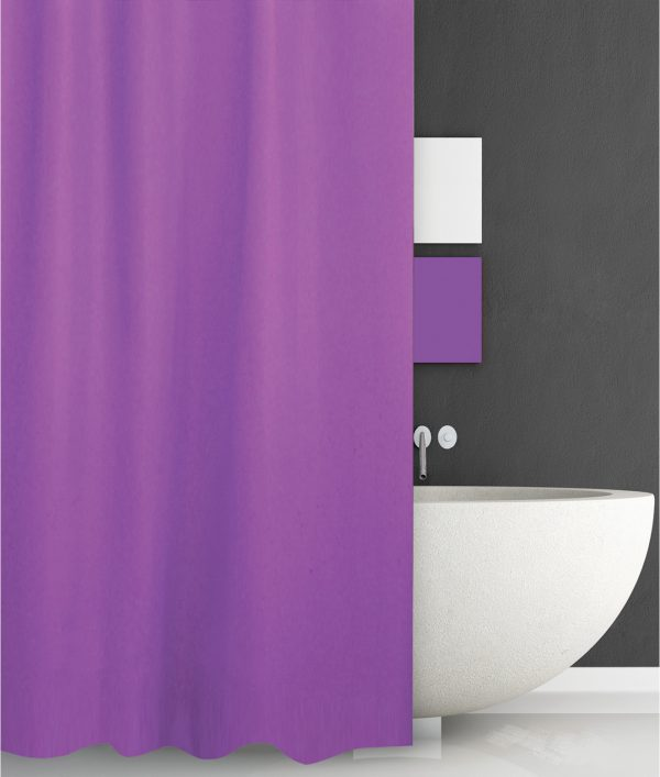 SHOWER CURTAIN HOTEL 301 SOLID PURPLE 240 180