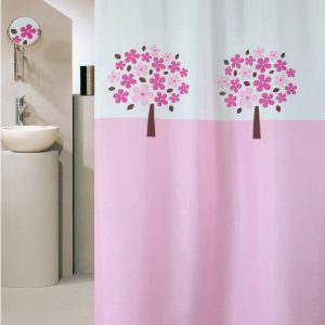 SHOWER CURTAIN  Νο 1668 TREE PINK 2,40 Χ 1,80