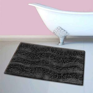 BATH-MAT BM-459 WAVES BLACK 45Χ70