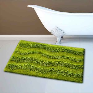 BATH-MAT BM-459 WAVES LIME 45Χ70