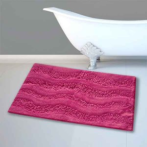 BATH-MAT BM-459 WAVES MAGENTA 45Χ70